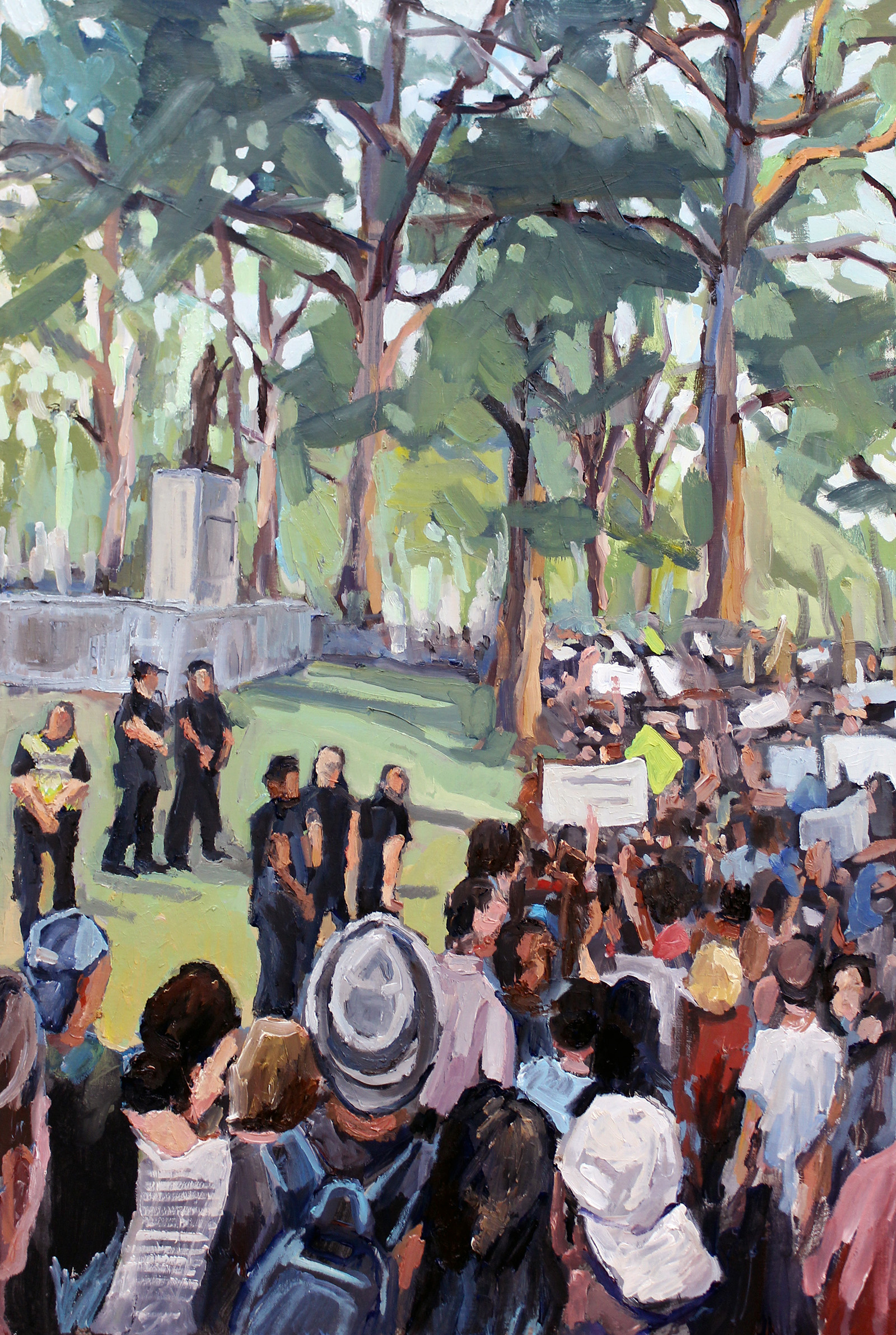 """Silent Sam, Chapel Hill"" by Ben Hamburger"